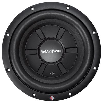 "Rockford Prime R2 10"" 2 Ohm DVC Shallow Subwoofer (single)"