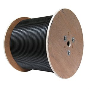 Red Atom RG59 18 / 2 CCS Siamese Wire 500' Spool (black)