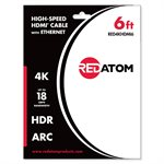 Red Atom 6' High-Speed HDMI 4K Cable with Ethernet