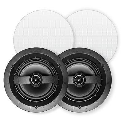 """Red Atom 6.5"""" Round 2-Way In-Ceiling Speakers (pair)"""