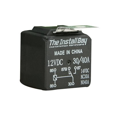 Install Bay Economy 12 Volt 30 / 40 Amps Relay (single)