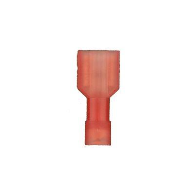 Install Bay 22-18 ga .250 F Nylon Quick Disco (red, 100 pk)