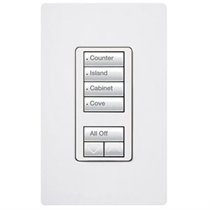 Lutron 4-scene with raise / lower(white)