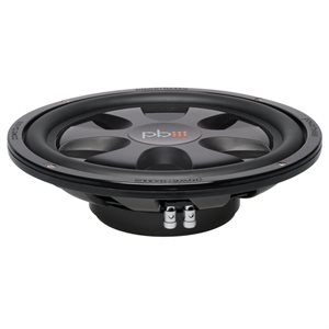 "PowerBass 12"" Dual 4 Ohm Thin Mount Subwoofer (single)"