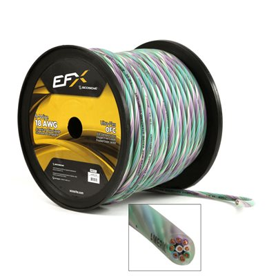 Scosche 9-Wire 18GA OFC Speaker Cable (250ft spool)