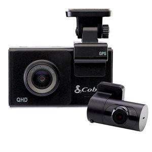 Cobra Dual-View Smart Dash Cam with Rear-View Accessory Camera