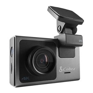 Cobra 4K Smart Dash Cam, Configurable Accessory Cam 16GB SD Card
