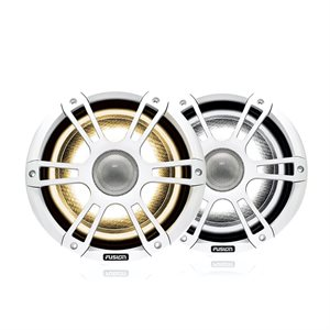 "Fusion Marine 6.5"" 230 Watt Coaxial Sports White Marine Speaker with CRGBW"