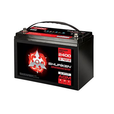 Shuriken 2,400W 120 Amp Hrs Lg Reserve Cap AGM 12V Battery