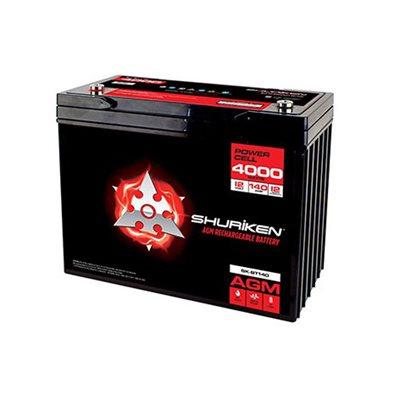 Shuriken 4,000W 140 Amp Hrs Lg Reserve Cap AGM 12V Battery