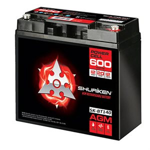 Shuriken 4,000W 140 Amp Hrs Lg Reserve Cap AGM 12V Battery