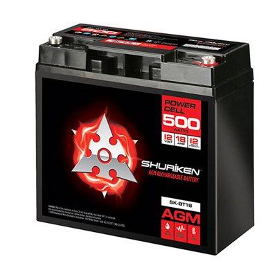 Shuriken 500 Watt 18 Amp Hours Compact Size AGM 12V Battery