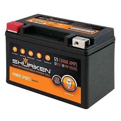 Shuriken 125 Crank Amps 8 Amp Hours AGM Battery