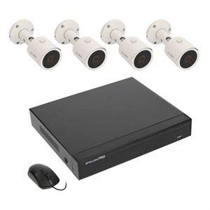 Spyclops 4 CHANNEL POE 4K NVR W / 4 MN BLT 1TB