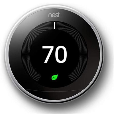 Nest Learning Thermostat 3rd Generation (Polished Steel)