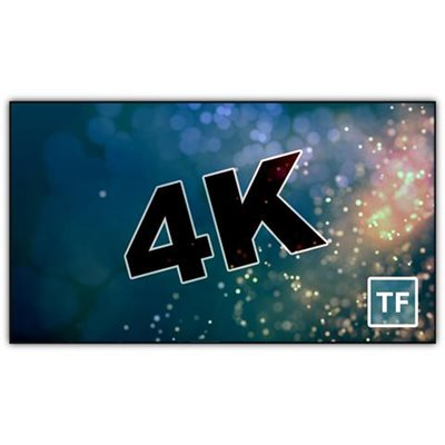 "Severtson 120"" 16:9 4K Thin-Bezel Fixed (cinema white)"