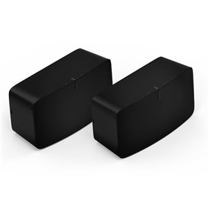 Sonos Two Room Set with Two FIVE1US (black)