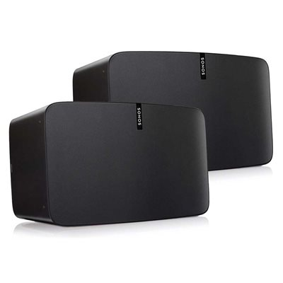 Sonos Two Room Set with Two Sonos PLAY:5 (black)