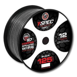 T-Spec v10 12 ga Speaker Wire 125' Spool (black)