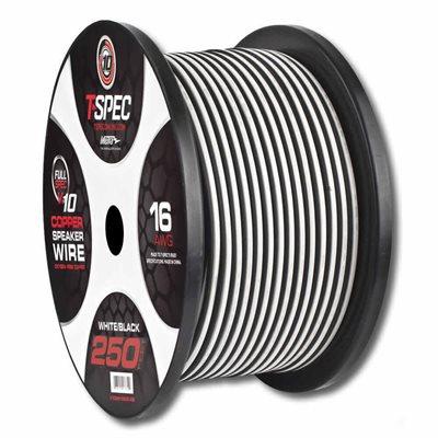 T-Spec v10 16 ga Speaker Wire 250' Spool (w / b)