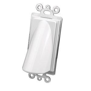 Vanco Bulk Cable Wall Plates- Single Decor (White)