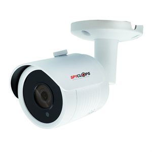 Spyclops MINI BULLET WHT 4MM 8MP IP POE CAMERA(white)