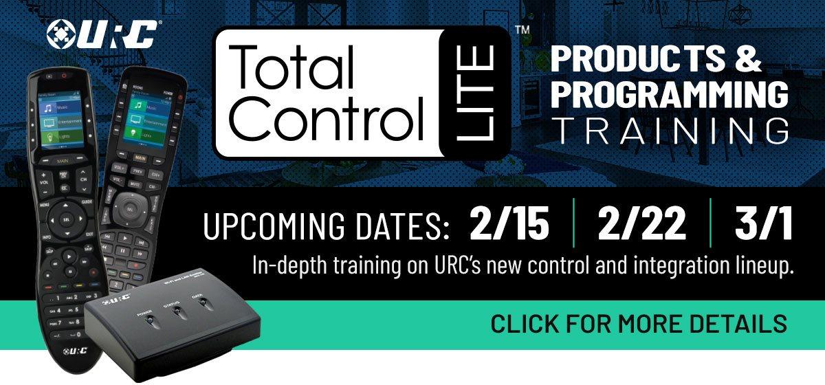 Total Control Lite Training